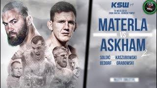 KSW 49 - Materla vs Askham, Soldić vs Kaszubowski, Bedorf vs Grabowski