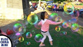 Anak Bermain Mainan Anak Bubble Ballon Soap Balon Busa Sabun Warna Warni