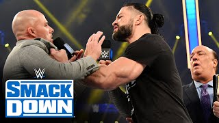 Roman Reigns takes issue with Adam Pearce: SmackDown, Jan. 8, 2021