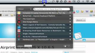 Quiet Read, an Elegant OS X Menubar App for Storing Links