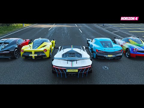 Forza Horizon 4 Top 9 Speed Hypercars Drag Race