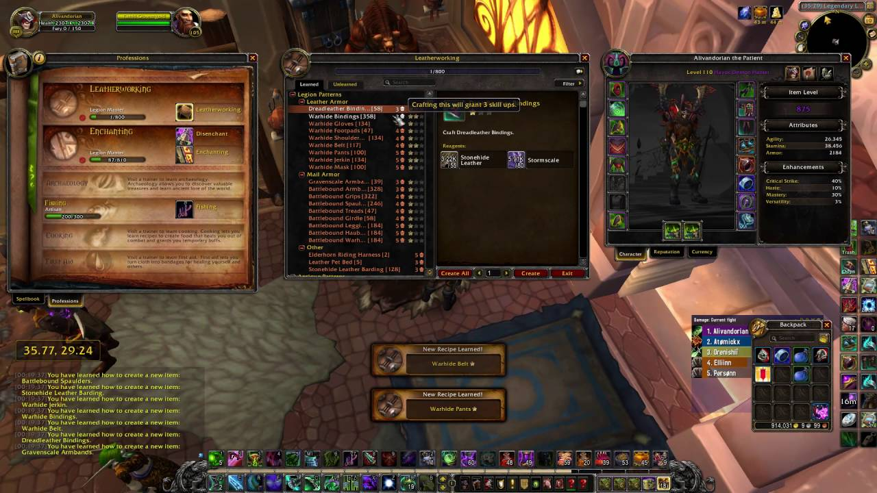 How To Relearn Profession Wow Legion Youtube
