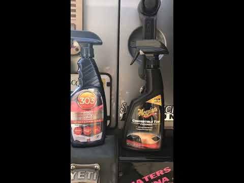 Mcguires vs 303 soft top cleaner comparison on a jeep