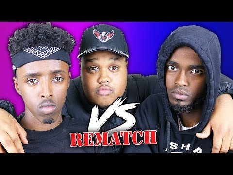 EPIC 1V1 RAP BATTLE!! - DARKEST MAN V AJ (THE REMATCH)