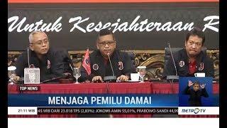 Sekjen Pdip Ajak Elite Politik Jaga Suasana Damai Pascapemilu
