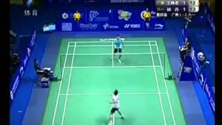 Badminton Lin Dan Vs Wang Zheng Ming 2010 China League [3/3]