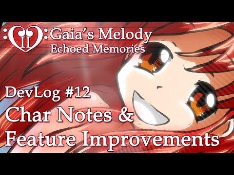 Gaia's Melody EM2 DevLog #12 - Char Notes & Feature Improvements (RPG Maker MV)