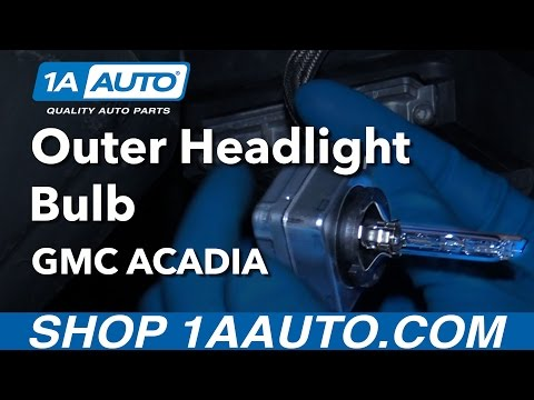 How to Replace HID Headlight Bulb 07-16 GMC Acadia