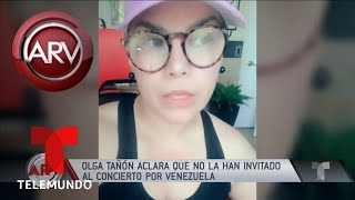 No estoy invitada al Venezuela AID Live, Olga Tañón | Al Rojo Vivo | Telemundo