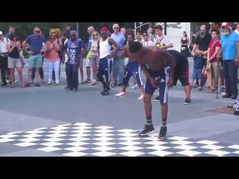 Amazing NYC break dancers part 2 in Washington Square Park New York street performance