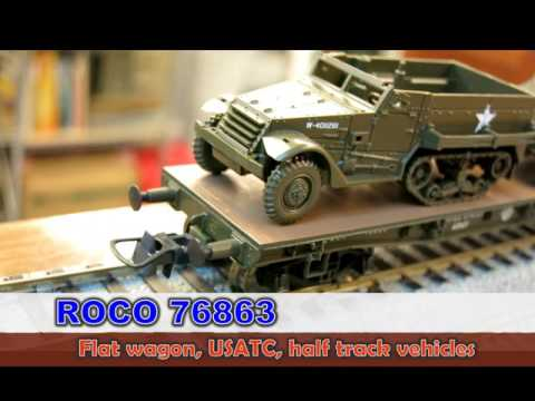 ROCO 76863 Flat wagon USATC