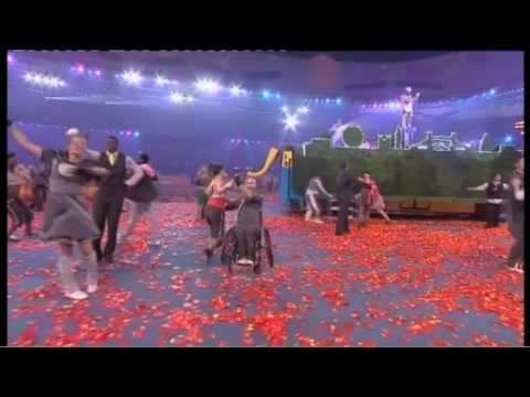 Beijing 2008 Paralympic closing ceremony - London 2012 bus