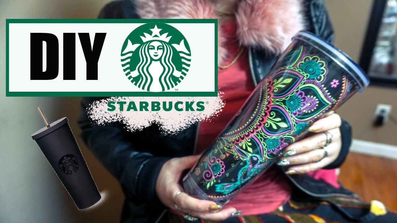 How To Decorate A Starbucks Diy Cup Youtube