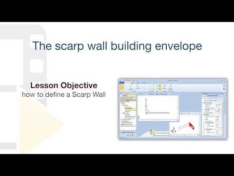 Edificius Tutorial - Scarp Wall building envelope - ACCA software