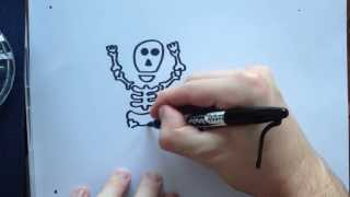 How to draw a Skeleton(Hi Scribblets, Here`s a simple