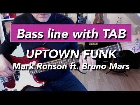 Uptown Funk - Bass Tab Lesson - Mark Ronson ft. Bruno Mars