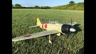 ラジコン零戦 真珠湾攻撃隊 赤城 第二中隊第一小隊一番機  板谷茂少佐機 を飛ばしてみた