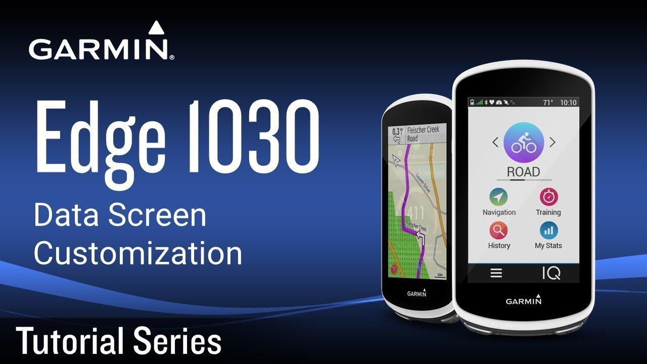 Tutorial - Edge 1030: Data Screen Customization