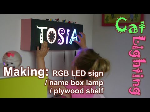 DIY LED sign / lamp with dynamic RGB backlight