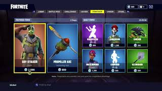 Fortnite NEW Sky Stalker Skin and Propeller Axe Harvesting Tool!!