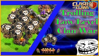 Clash of Clans - Trolling Low Level Bases in Clan Wars with Level 6 Balloons