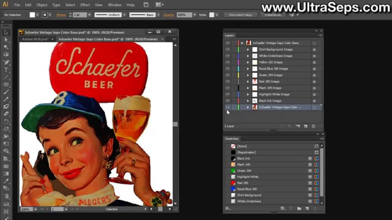 Printing Photoshop Color Separations With Illustrator