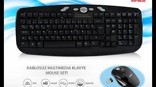 Everest Km-6630 Multimedia Kablosuz Klavye + Mouse Set