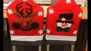 Decoracion de navidad sillas