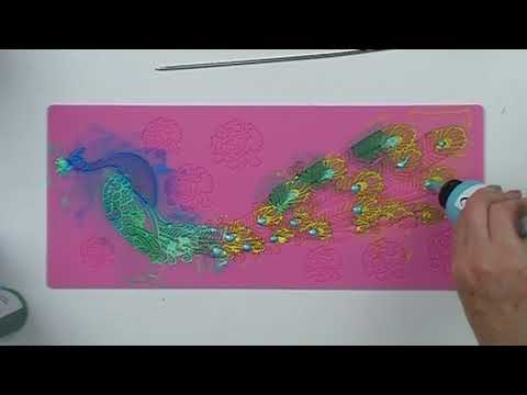 Creating a Lace Peacock using Vivid Ultra Metallic Paints