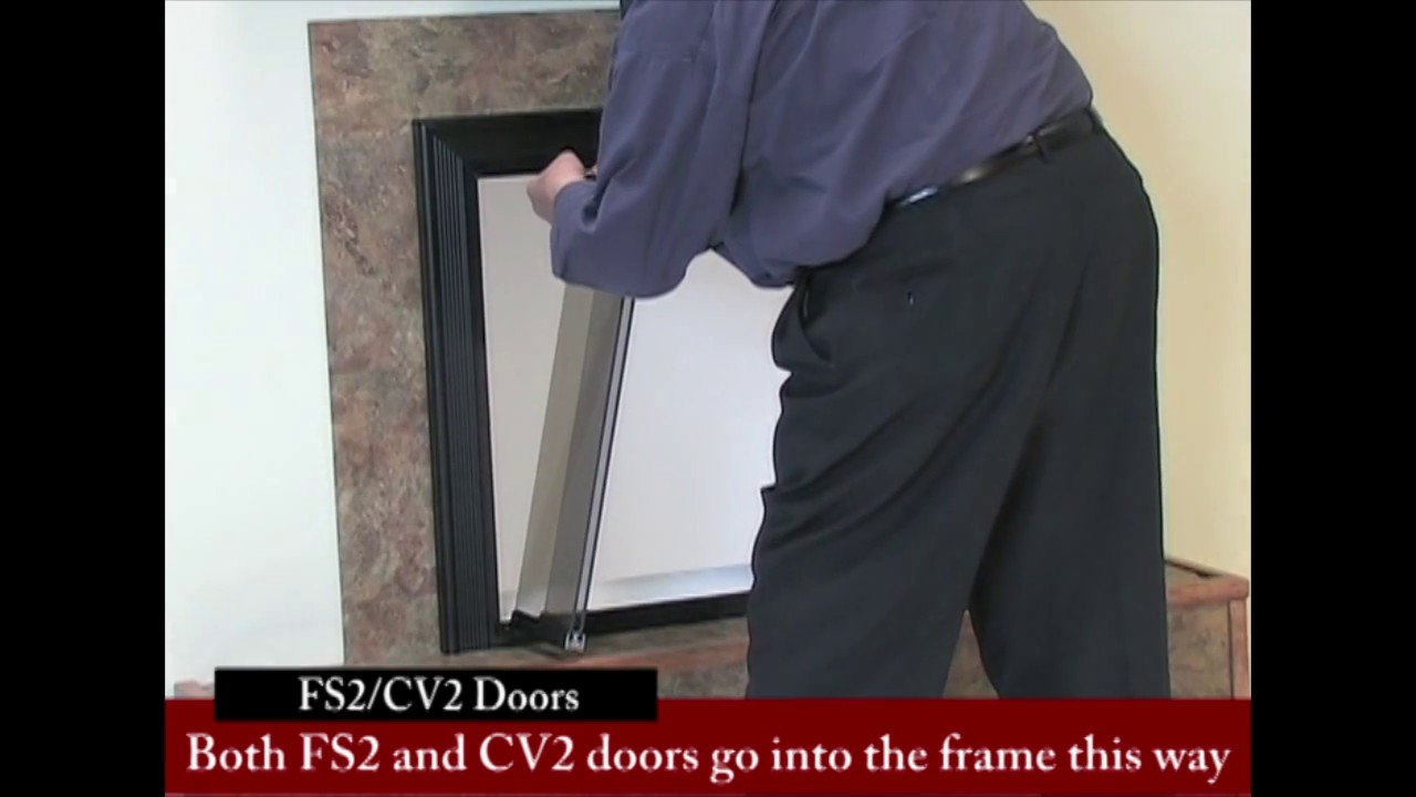 How To Install Bifold Fireplace Glass Doors Youtube