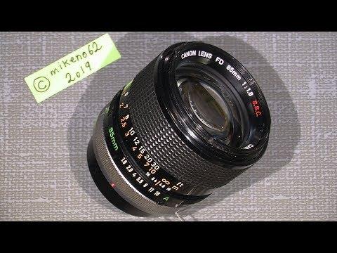 Oil on the aperture blades in Canon FD 85mm 1:1.8 S.S.C. Breech Lock