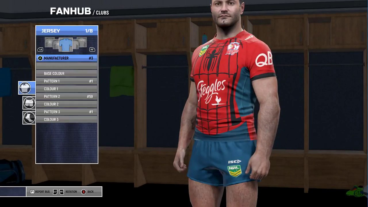 Rugby League Live 4 Custom Jerseys Marvel