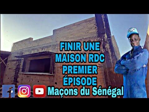 FINIR UNE MAISON RDC premier épisode avec Maçon du Sénégal