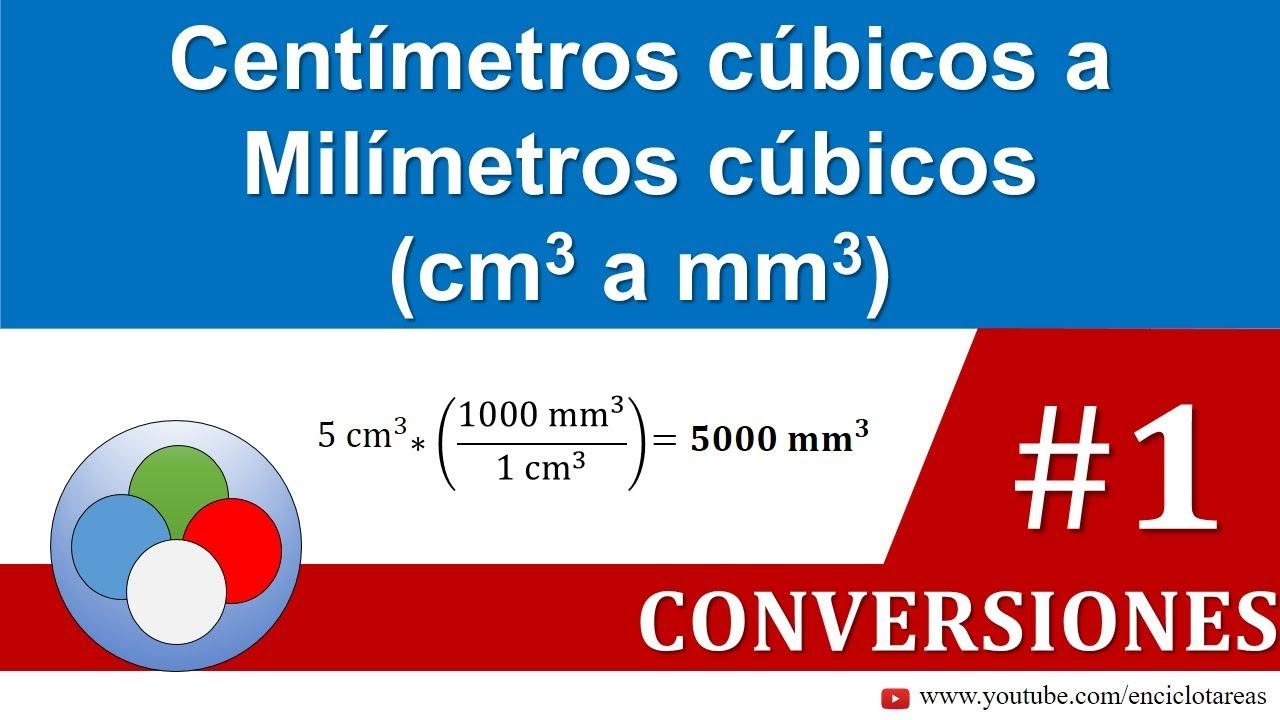 Centímetros Cúbicos A Milimetros Cúbicos Cm3 A Mm3 Youtube