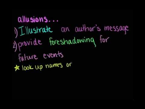 Literary Terms Allusion Youtube