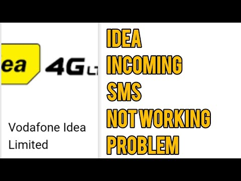 Idea Incoming SMS and Message Not Working Problem Solved