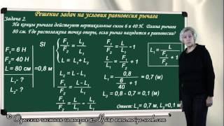 Решение задач на условия равновесия рычага
