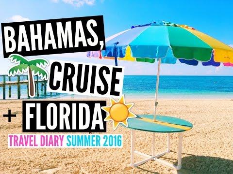 Bahamas, Cruise, Disney World & more! ♡ Travel Diary Summer 2016 //EliseLife
