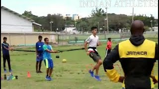 Indian athletes at JAMAICA!! 🇯🇲 #2   Usain Bolt training club  Races Track Club Kingston, Jamaica