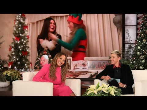 Chrissy Teigen Helps Hire Dancing Elves for 12 Days of Giveaways!