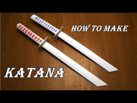 How to make a katana out of paper. Ninja Weapon. DIY