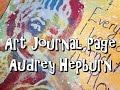 Art Journal Page - Audrey Hepburn