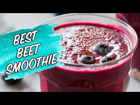 Beet Smoothie | Healthy Breakfast Smoothie for Detox or Weightloss