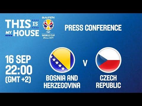 Bosnia-Herzg v Czech Republic - Press Conf. - FIBA Basketball World Cup 2019 European Qualifiers