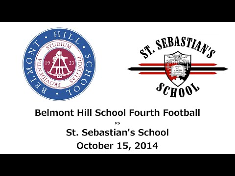 Belmont Hill School, Fourth Football, vs St. Sebs, 10/15/2014