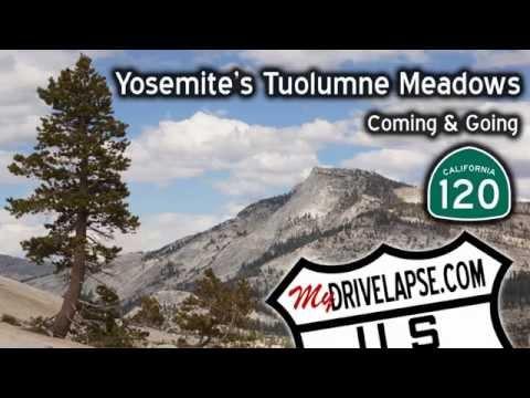 Drive Through Yosemite: Tioga Pass, Tuolumne Meadows