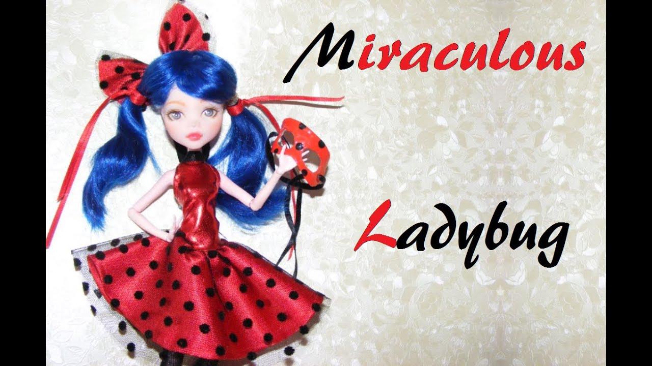 Miraculous ladybug doll dress ladybug inspired dress youtube miraculous ladybug doll dress ladybug inspired dress solutioingenieria Images