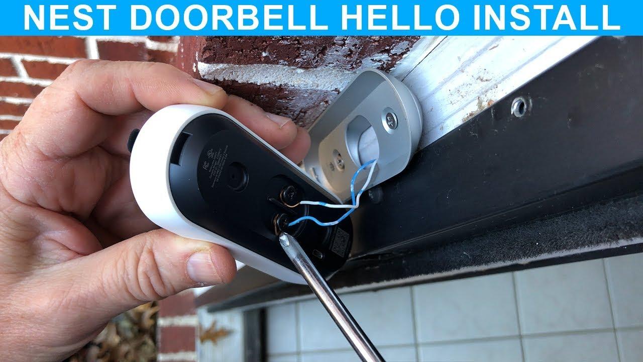 How To Install Nest Doorbell Hello Youtube