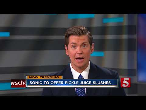 Sonic Launching Pickle Juice Slush This Summer