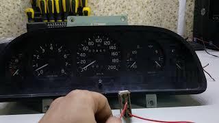 Японский мотор и Волга: адаптация панели. Указатели положения акпп P R N D 2 L (3 4)